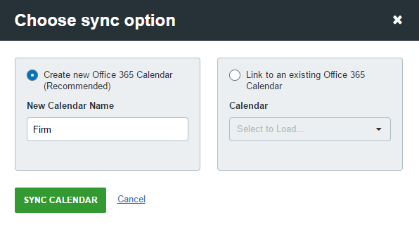link to an existing calendar in office 365