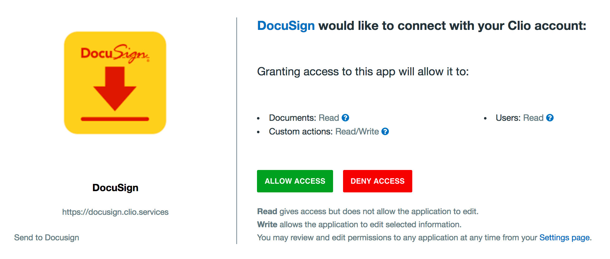 Sign with DocuSign – Clio Help Center