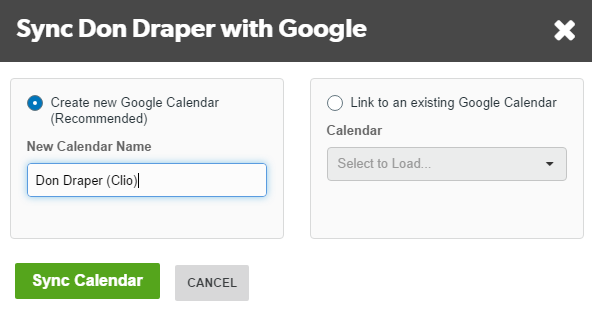 Differences Between Creating A New Calendar And Linking An Existing