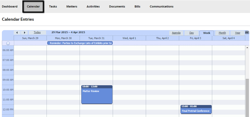 working with calendars in clio connect clio help center