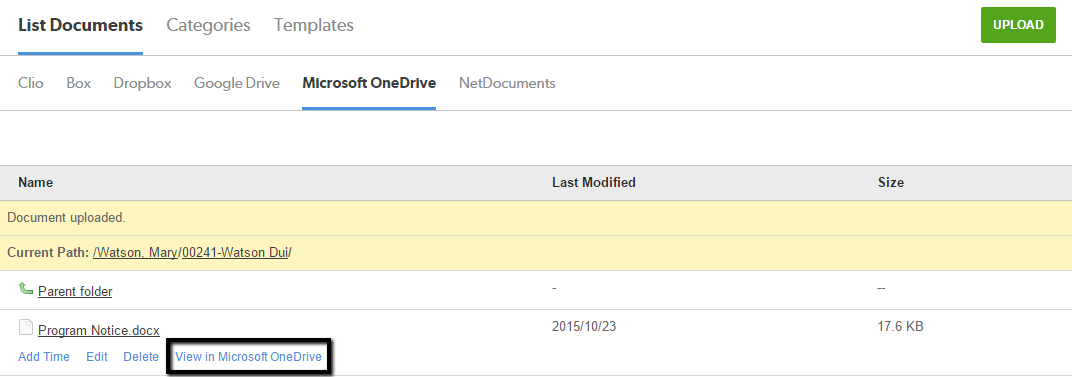 OneDrive for Business: Setting Up and Using the Integration – Clio
