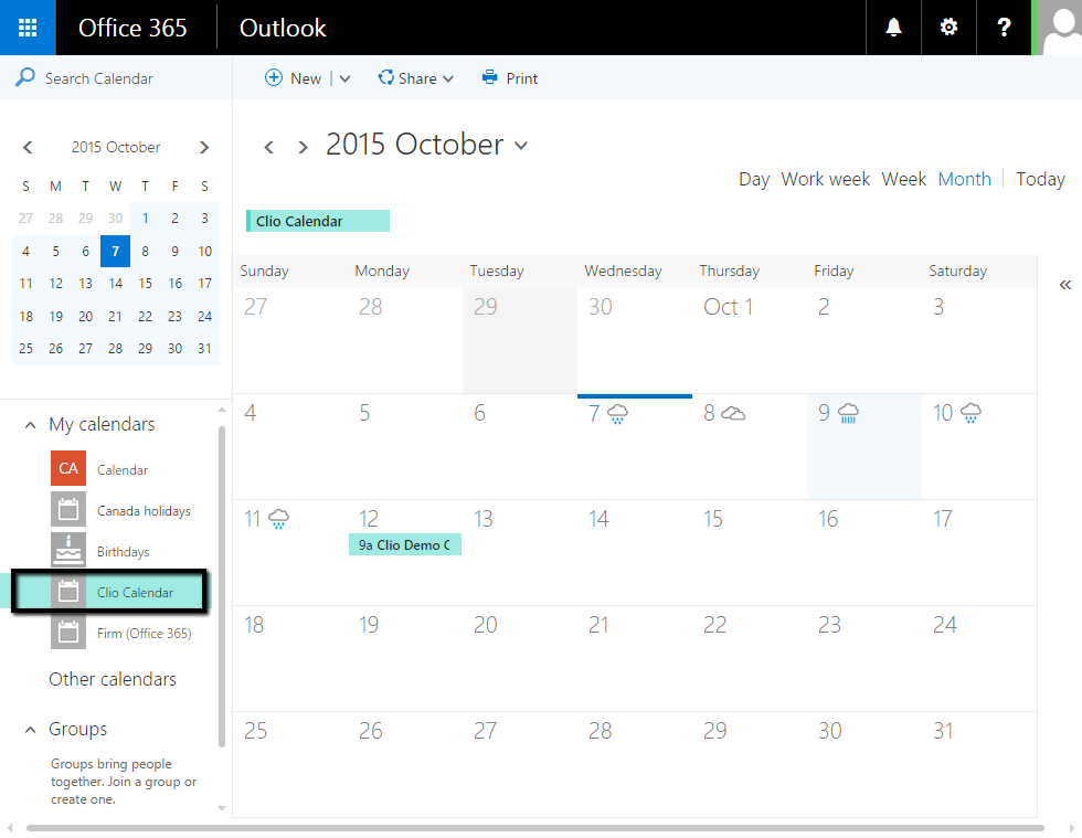 Office Calendar 365 : Office business premium or enterprise syncing