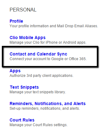 Syncing your Google and Clio Calendars with Clio Sync for Google