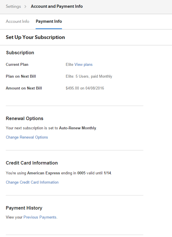 Updating your Clio Subscription, Payment and Billing Information ...