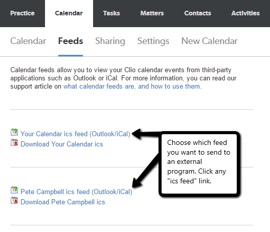 Viewing Your Clio Calendar In Other Applications Clio Help Center